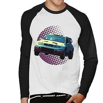 Immagini Motorsport Skoda Fabia WRC 05 Uomini's Baseball T-Shirt a maniche lunghe