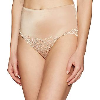 Merk - Arabella Women's Microfiber en Lace Tummy Control Brief Panties Shapewear, Nude, Large