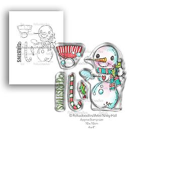 Polkadoodles Smiley Snowman Clear Stamps