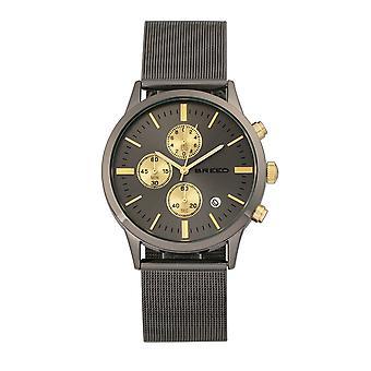 Rasen Espinosa Chronograph Mesh-armband Watch w / datum - Gunmetal