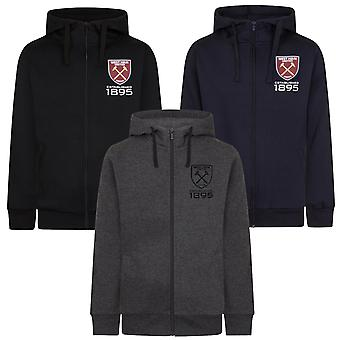 West Ham United Mens Hoody Zip Fleece OFFICIAL Football Gift