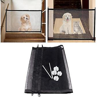 Magic Pet Folding Safe Gate Fence Barrier Net Guard - Indoor Outdoor Puppy Dog Separation Protect Enclosure