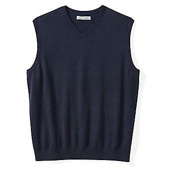 Essentials Men's Big & Tall V-Neck Sweater Vest, Navy, 2X Tall