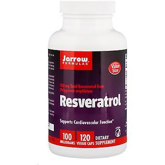 Jarrow Formules, Resveratrol, 100 mg, 120 Veggie Caps