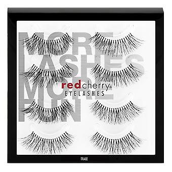 Red Cherry False Eyelashes - #217 Trace Multipack 4 Pairs - Cruelty Free Lashes