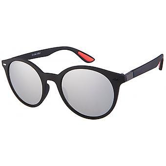 نظارات شمسية Unisex Cat.3 أسود / فضة (19-244)