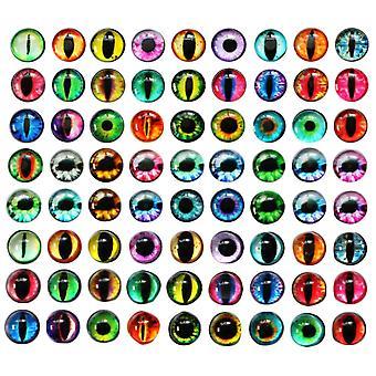 200PCS DIY medál üveg gomb kromatikus kerek szemek típusa 12x4mm