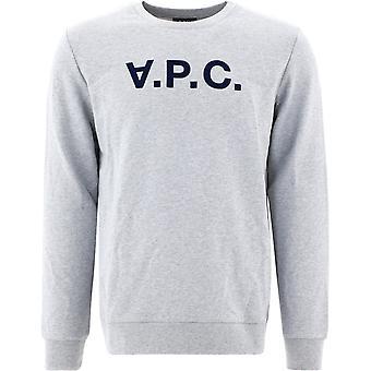A.p.c. Coecqh27378pla Men's Grey Cotton Sweatshirt