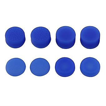 Thumbstick grips for ps4 sony controller rubber silicone grip cover - 8 pack blue | zedlabz