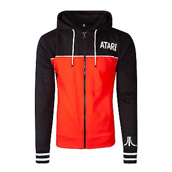 Atari Huppari Classic retro Gamer Logo uusi Official Mens Zipped