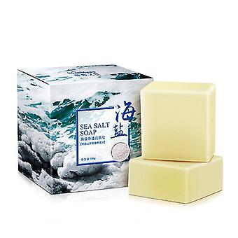 Sea Salt Soap Cleaner , Removal Pimple Pores , Acne Treatment- Goat Milk
