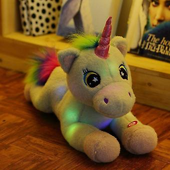 Sosire 45cm Unicorn Plush Light Up Toys-Umplute Led Lighted Animal Doll