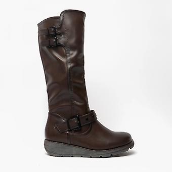 Heavenly Feet Erica Ladies Tall Boots Chocolate