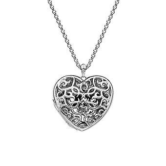 Hot Diamonds hjerte filigran medaljong DP669