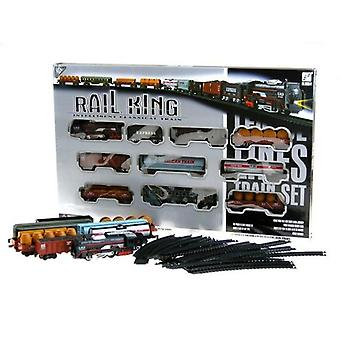 Set re ferroviario con locomotiva e 9 vagoni 150 cm