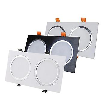 Led Eingebaute Beleuchtung Double Point Light Anti-Fog Grille Square Deckenstrahler brushed Downlight