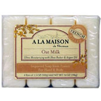 A La Maison Bar Soap Value Pack, Oat Milk 4 CT