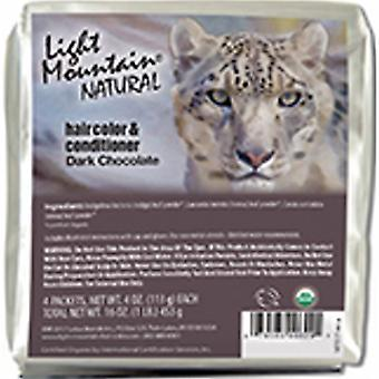 Light Mountain Natural Hair Color & Conditioner, Dark Chocolate 16 Oz