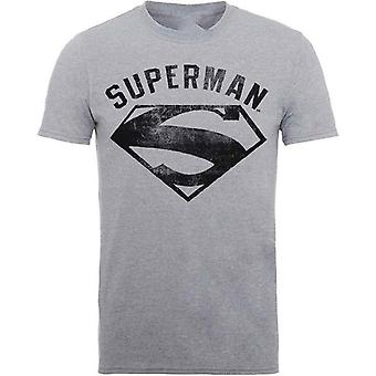 סופרמן לוגו ספריי חולצת טריקו על Rockabilia