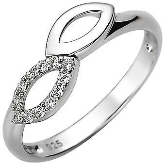 Damen Ring 925 Sterling Silber 12 Zirkonia Silberring