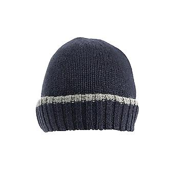 Knitted Hat with Up-turn Brim