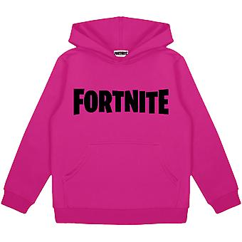 Fortnite Text Logo Girls Pullover Hoodie   Marchandises officielles