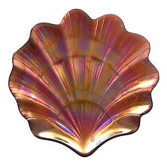 """Scallop Shell Copper 8"""" Side Plates"""