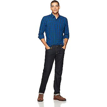 Brand - Goodthreads Men's Slim-Fit Long-Sleeve Gingham Slub Shirt