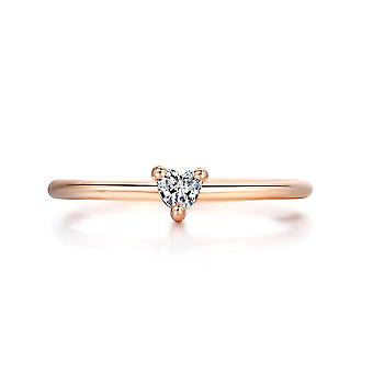 Rings Little Heart Shaped Gold Color Wedding Engagement Ring