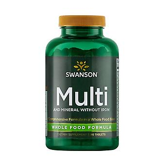 Ultra Multi and Mineral without Iron Whole Food 90 tablets