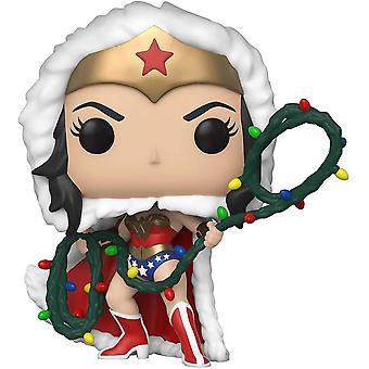 Mulher Maravilha com Lights Lasso Holiday Pop! Vinil