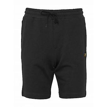 Lyle en Scott Black Jersey Katoenen Shorts