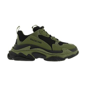 Balenciaga Triple S Leather Free/Not Wash Green 536737W2CA11033 shoe