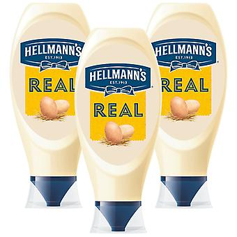 Hellmann's Real Squeezy mayonaise, 3 Packs of 750ml