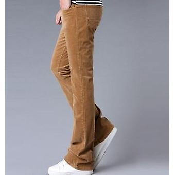 Pánské kalhoty a vzplanutí pánské kalhoty Bell Bottom Klasické podzimní kalhoty