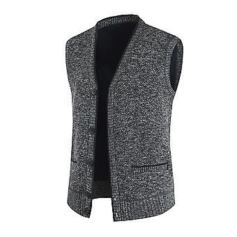YANGFNA Men's Single-breasted Casual V-neck Waistcoat Vest