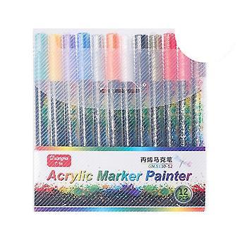 Marqueur de peinture acrylique -stylo pour tasse en porcelaine en verre de roche en céramique