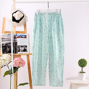 100% Gauze Cotton Home Pants Women Sleep Bottoms Fresh Casual Pajamas Sleepwear