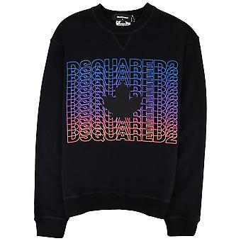 Dsquared2 Gjenta Gradient Logo Sweatshirt Svart