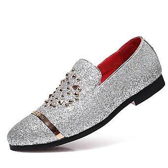 Mies mekko kengät jalkineet rento slip häät kenkä