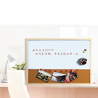 Combinatie Houten Frame Magnetisch Whiteboard