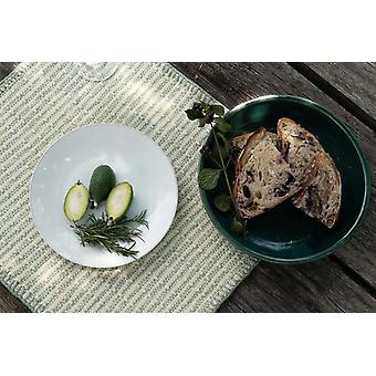 Embroidered Feijoa Green Placemat (set Of 6)