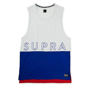 Supra Colour Block Round Neck Tank Top Mens Branded Vest 102176 117