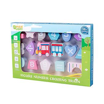 Train digital beaded building blocks