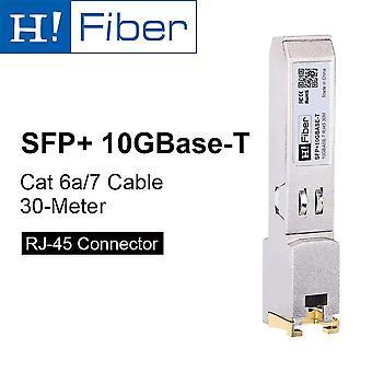 H!fiber 10g sfp+ rj45 kupfer transceiver(cat6a/7, 30m), 10gbase-t Modul für cisco sfp-10g-t-s, ubiq
