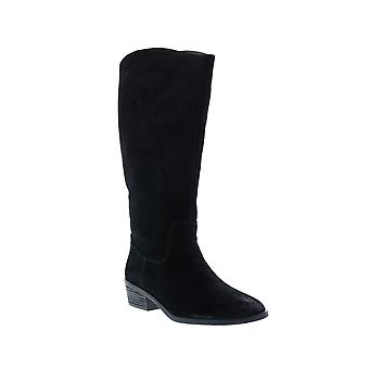 Frye & Co. Caden Stitch Tall  Womens Black Suede Mid Calf Boots