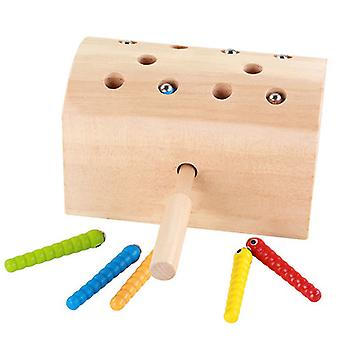 Interesting Insect Catching Toys, Wooden Magnetic Early Education Toys, Improved Hand-eye Coordination