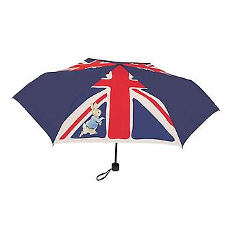 Beatrix Potter Peter Rabbit Union Jack Kompakti sateenvarjo