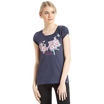 Nieuwe Peter Storm vrouwen mooie foto korte mouw T-Shirt Navy