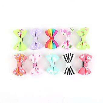 Durable And Colorful, Small Claw With Ribbon Bow Design-hair Pins